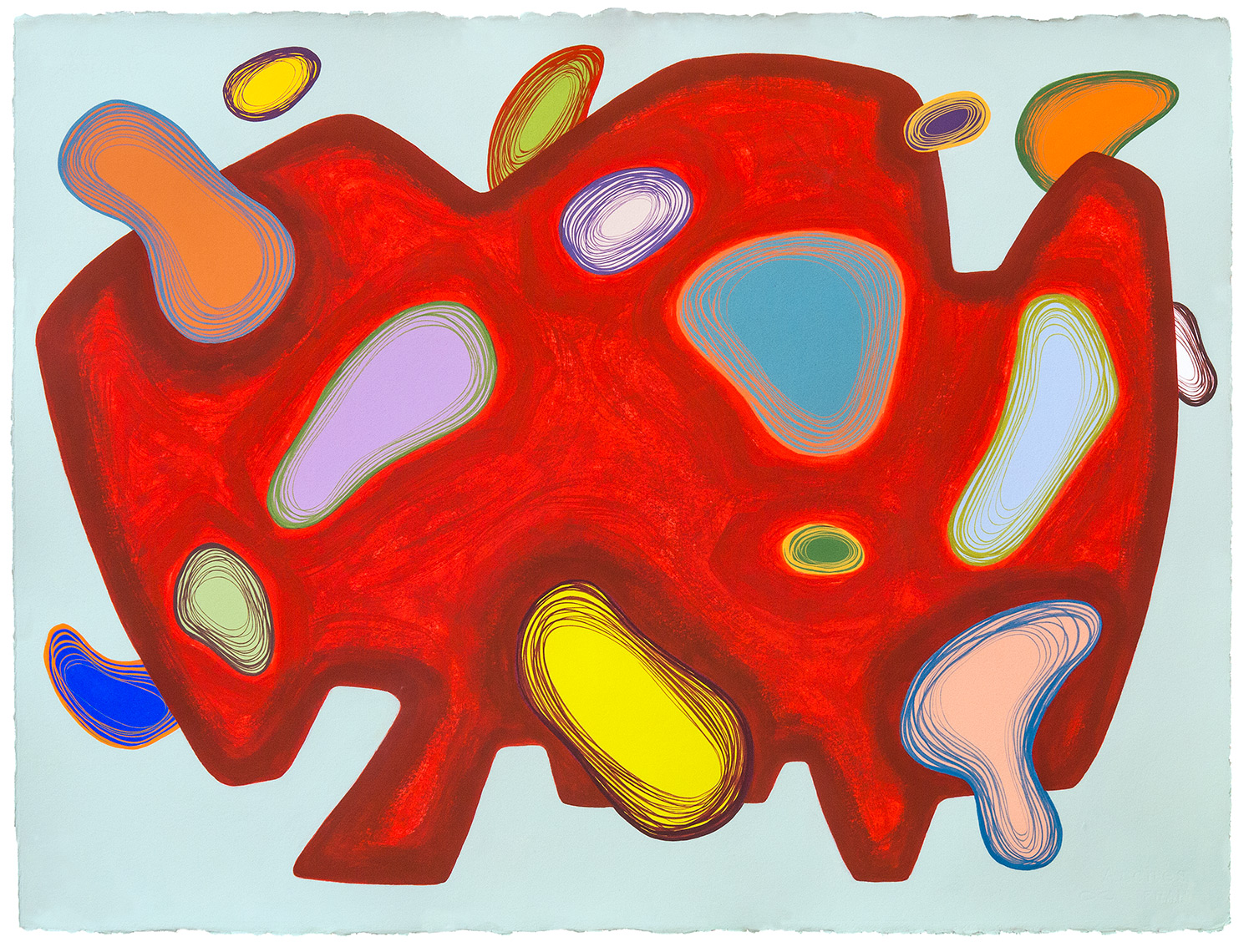 """Athanor N°S5A1"",  gouache, crayon on Arches paper  56 by 76 cm / 22 by 30 inches 2/22-26/2017 ©Pascal Demeester"