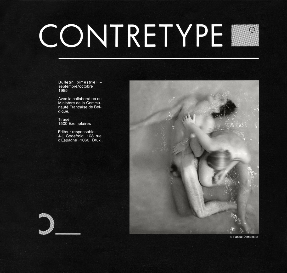 Contretype-Deluge-Cataloge-Cover-1985-Pascal-Demeester