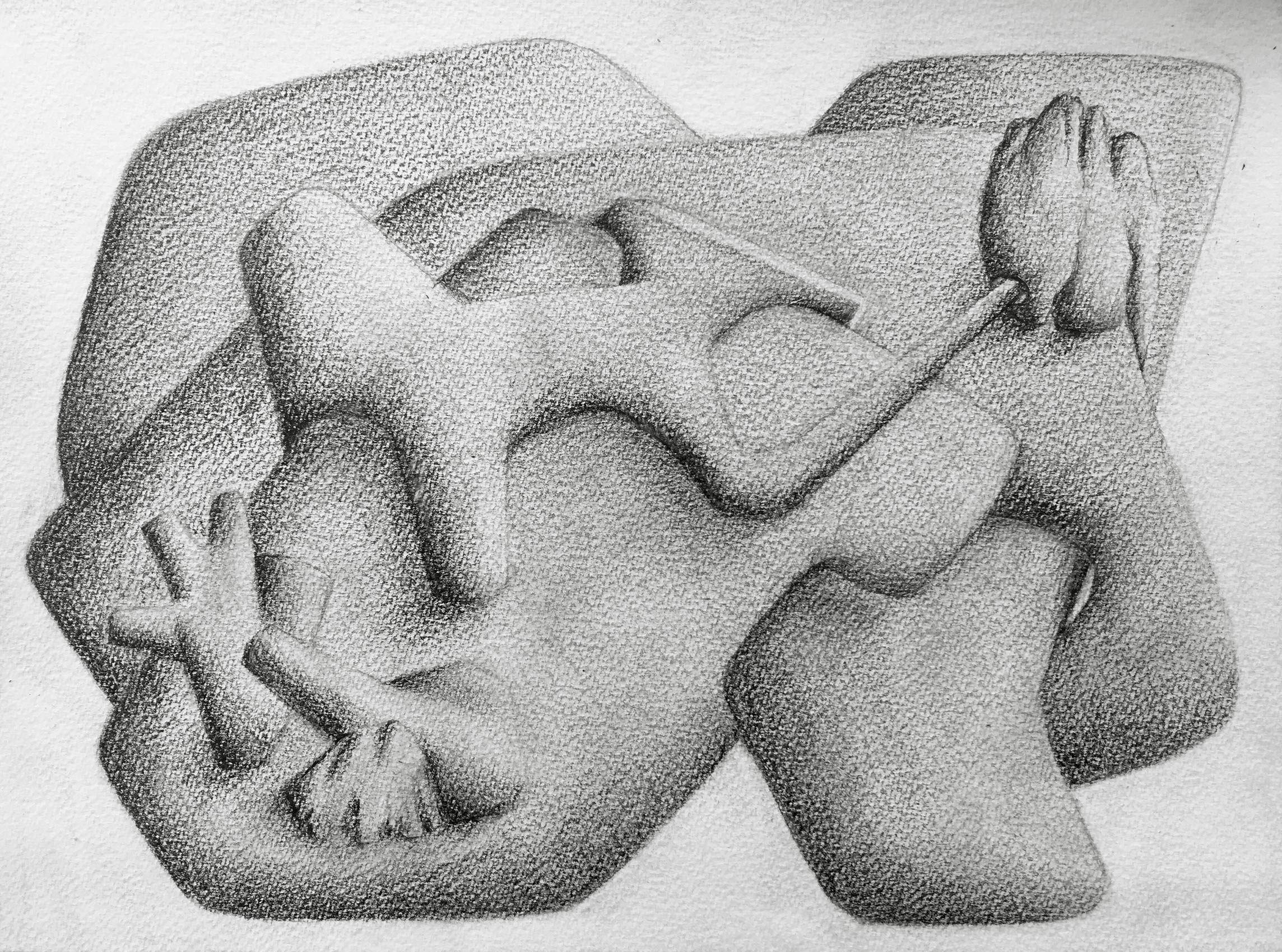 [No Title], N°DNT4,  2019, Pencil on paper, 24cm by 32cm, 2019 ©Pascal Demeester