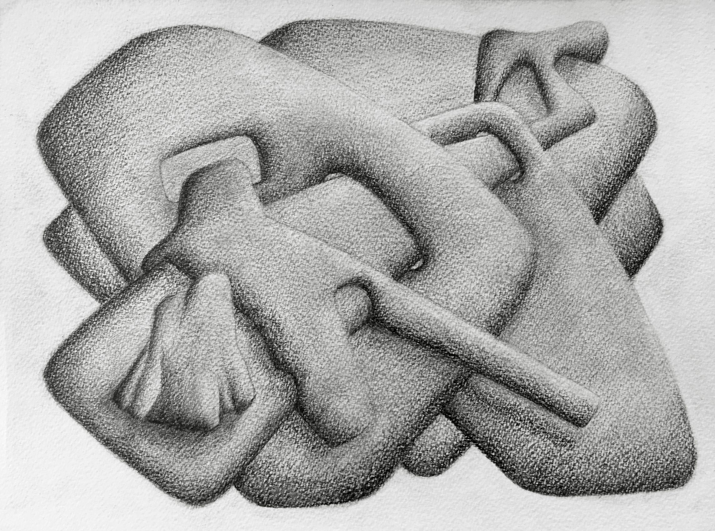 [No Title] N°DNT5,  2019, Pencil on paper, 24cm by 32cm, 2019 ©Pascal Demeester