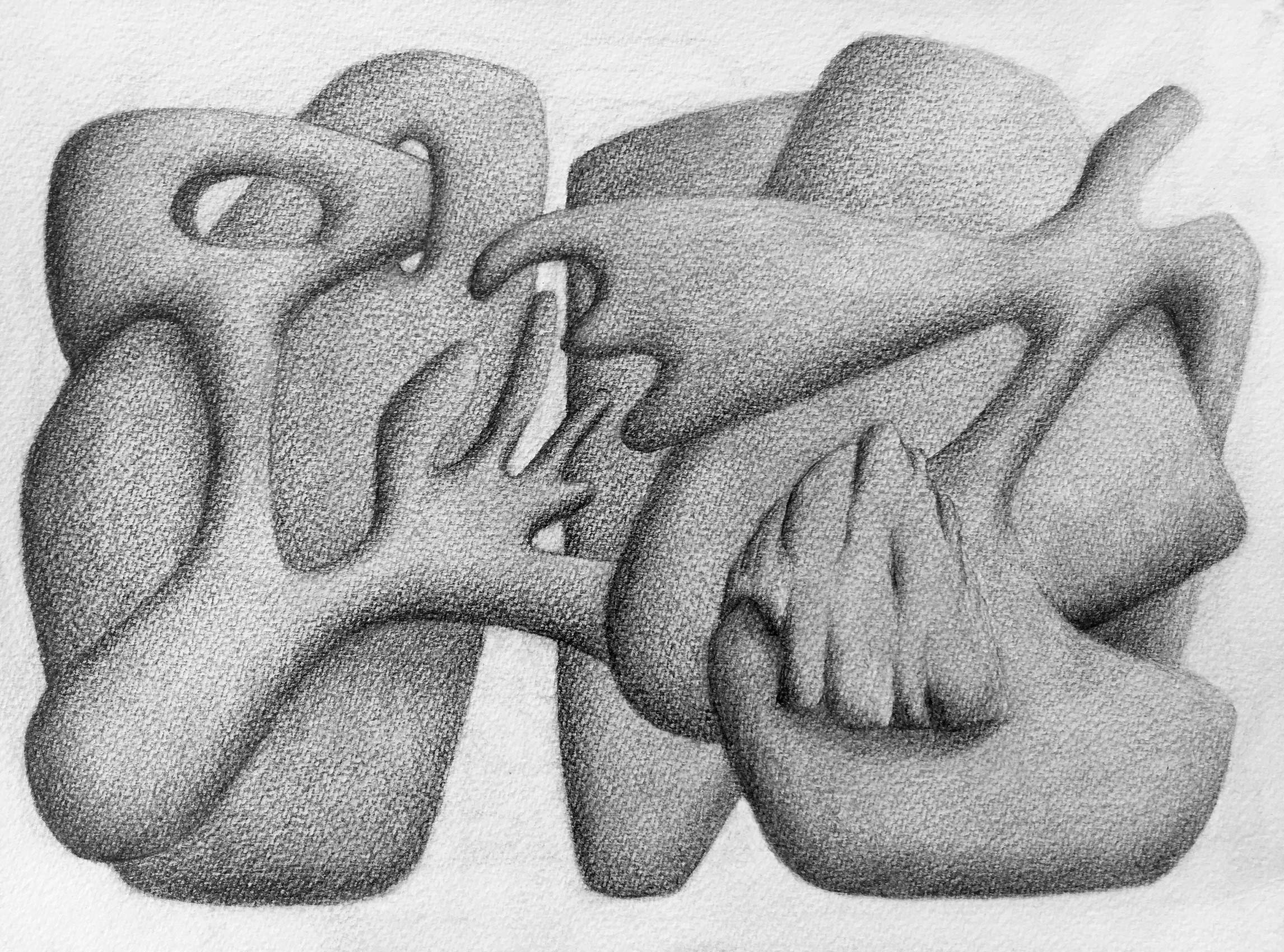 [No Title], N°DNT6,  2019, Pencil on paper, 24cm by 32cm, 2019 ©Pascal Demeester