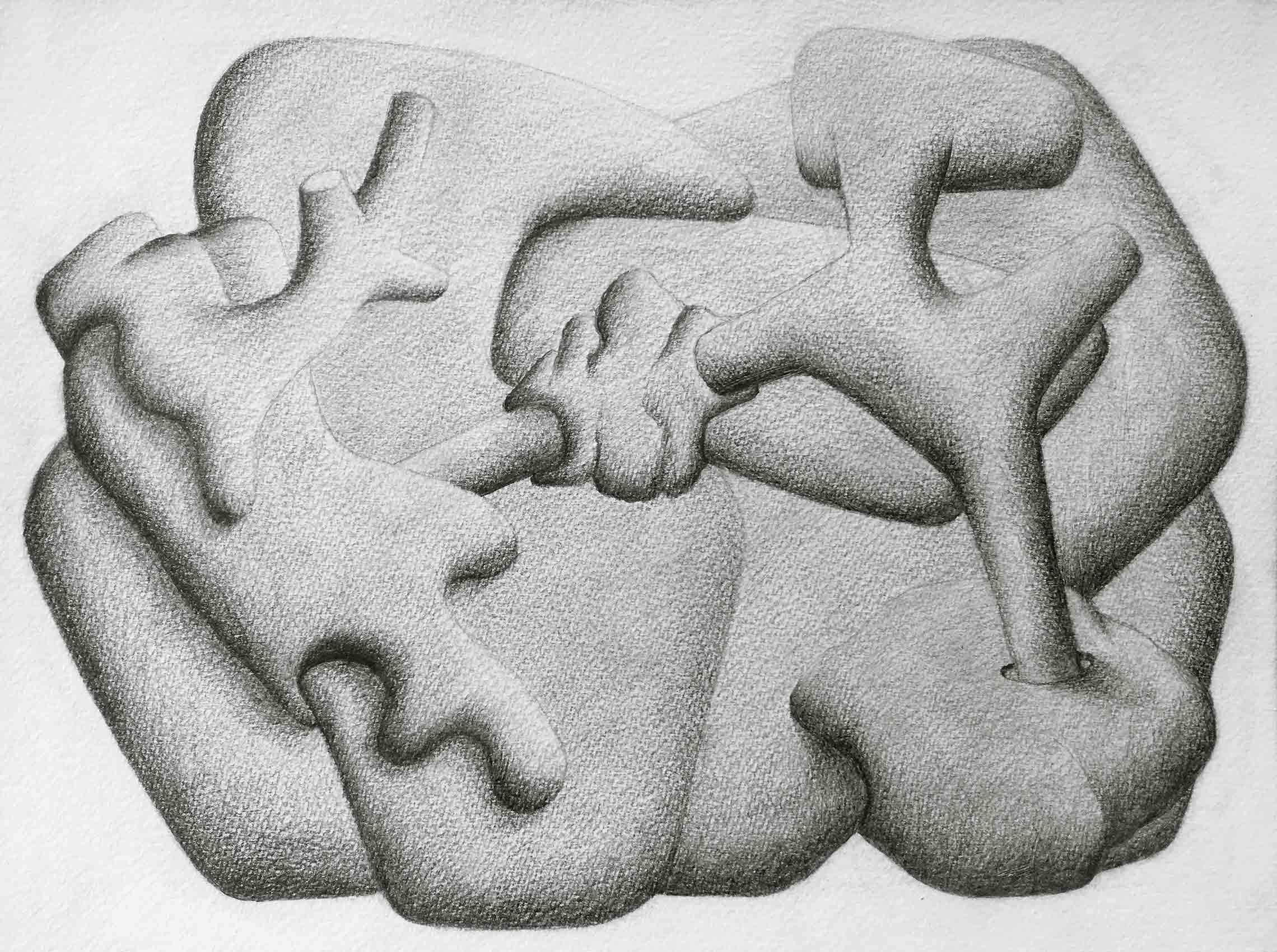 [No Title], N°DNT8, 2019, Pencil on paper, 24cm by 32cm, 2019 ©Pascal Demeester