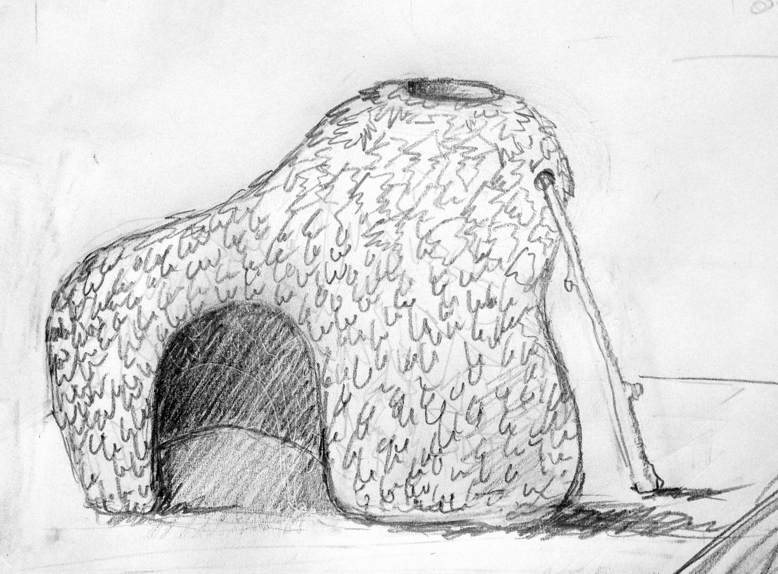 Sculpture_Shelter-_Drawing_©pascaldemeester#1